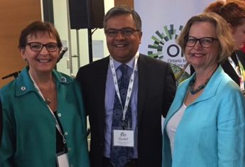 Sharon Halpern; Dr. Amit Oza; Elisabeth Baugh, CEO, Ovarian Cancer Canada